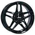 ATS, Mizar, 6,5x16 ET49 5x112 66,6, schwarz glänzend