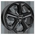 Autec, Xenos, 7x17 ET38 5x112 70, schwarz matt lackiert