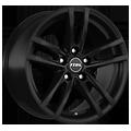 Rial, X10, 7,5x17 ET43 5x120 72,6, racing-schwarz