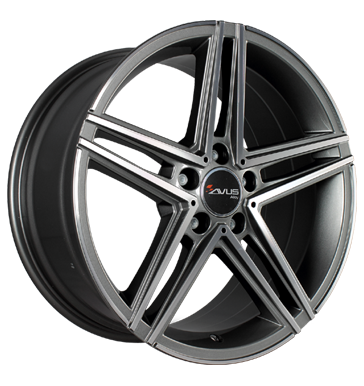 Avus, AC-515, 7,5x17 ET36 5x112 66,6, anthracite polished