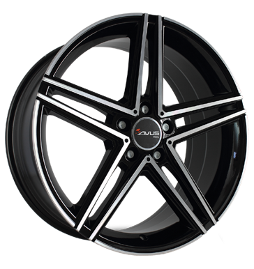 Avus, AC-515, 7,5x18 ET52 5x112 66,6, black polished