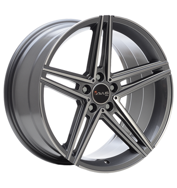Avus, AC-515K, 9,5x19 ET35 5x112 66,5, anthracite polished
