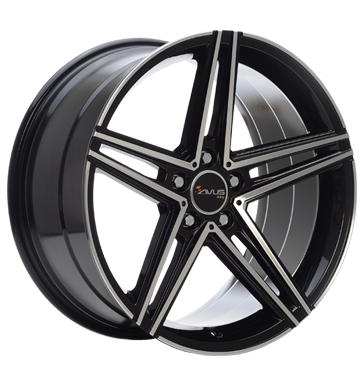 Avus, AC-515K, 9,5x19 ET35 5x112 66,6, black polished