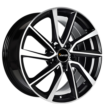 Avus, AC-518, 7,5x17 ET30 5x112 66,6, black polished