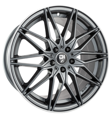 Damina Performance, DM02, 8x18 ET30 5x112 66,6, anthracite polished lip