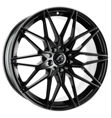 Damina Performance, DM02, 8,5x19 ET30 5x112 66,6, black polished lip