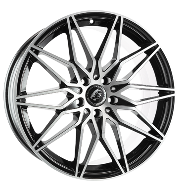 Damina Performance, DM02, 8,5x19 ET30 5x112 66,6, black polished