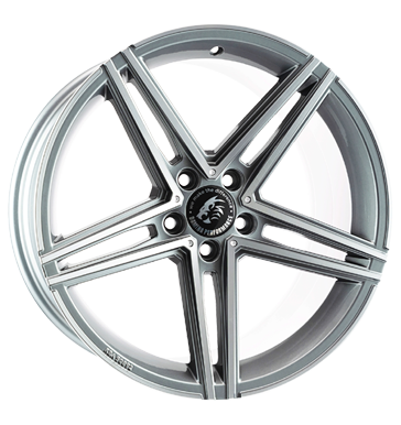 Damina Performance, DM04, 8,5x18 ET35 5x112 66,6, anthracite polished