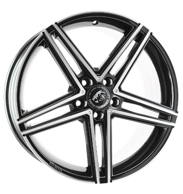 Damina Performance, DM04, 8,5x18 ET35 5x112 66,6, black polished