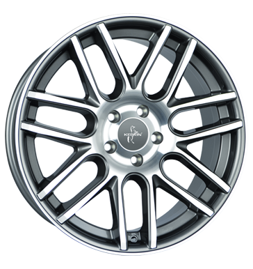 Keskin, KT14 Concave, 8x19 ET42 5x112 66,6, palladium front polish