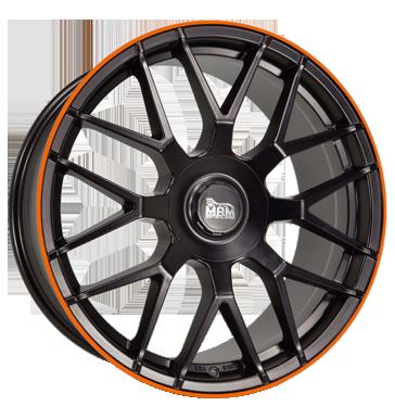 MAM, GT1, 8,5x19 ET30 5x100 66,6, matt black lip orange