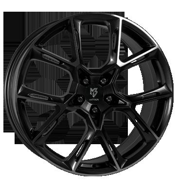 mbDESIGN, KX1, 8,5x20 ET45 5x112 75, schwarz glänzend