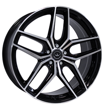 Meisterwerk, MW02, 9,5x19 ET32 5x112 66,6, black polished