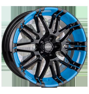 Oxigin, 14 Oxrock, 10x22 ET20 5x120 76,9, foil blue