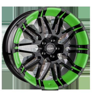 Oxigin, 14 Oxrock, 10x22 ET20 5x120 76,9, foil green