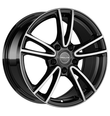 Proline, CX300, 6,5x15 ET38 5x100 63,3, black polished
