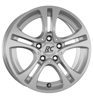 RCDesign, RC D16, 6,5x16 ET38 5x112 66,6, kristallsilber