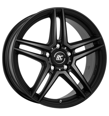 RCDesign, RC D17, 6,5x16 ET38 5x112 66,6, satin black matt