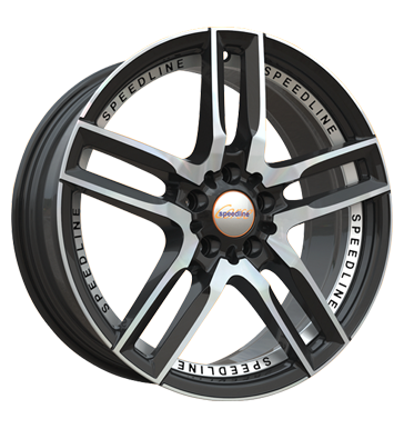 Speedline Corse, SL1 Imperatore, 8,5x19 ET40 5x114,3 82, schwarz-frontkopiert