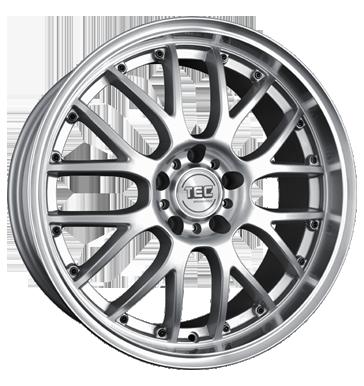 TEC Speedwheels, AR 1, 7x17 ET18 4x108 65,1, silber frontpoliert