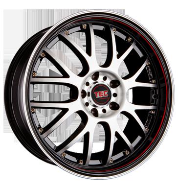 TEC Speedwheels, AR 1, 8,5x19 ET30 5x112 72,5, RS schwarzsilber frontpoliert