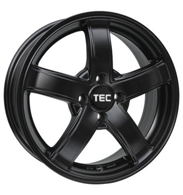 TEC Speedwheels, AS1, 6,5x15 ET20 4x108 65,1, schwarz seidenmatt