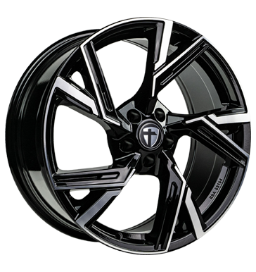 Tomason, AR1, 8x18 ET43 5x112 66,6, black diamond polished