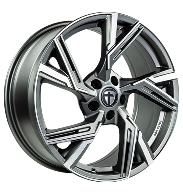 Tomason, AR1, 8,5x19 ET35 5x112 66,6, anthracite diamond polished