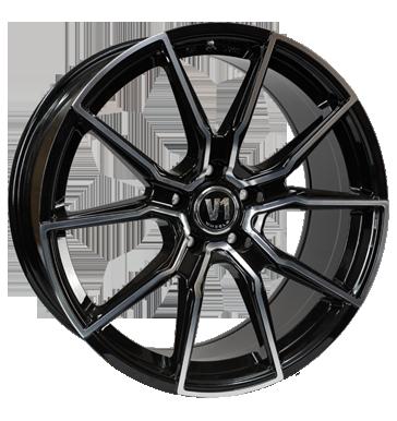 V1 Wheels, V1, 8,5x19 ET35 5x112 66,6, schwarz hochglanzpoliert
