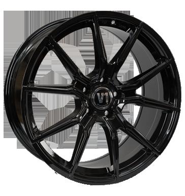 V1 Wheels, V1, 8,5x19 ET45 5x112 66,6, schwarz glänzend lackiert