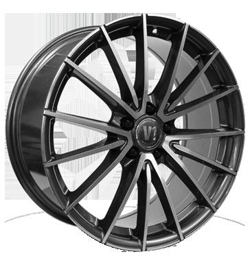 V1 Wheels, V2, 8x18 ET45 5x120 72,6, daytona grau hochglanzpoliert