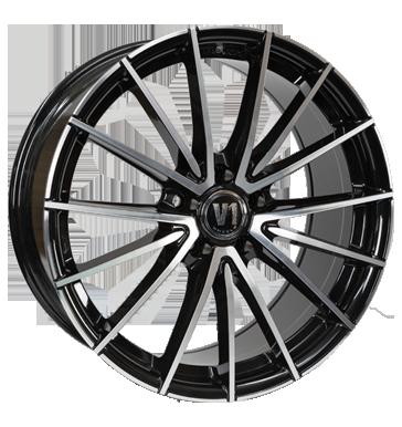 V1 Wheels, V2, 8x18 ET45 5x120 72,6, schwarz hochglanzpoliert