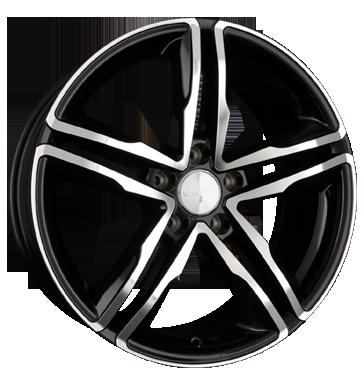 Wheelworld, WH11, 7,5x17 ET28 5x112 66,6, schwarz hochglanz poliert