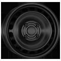 Alcar, Stahl, 5,5x14 ET35 4x98 58, schwarz