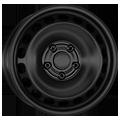 Alcar, Stahl, 5x14 ET38 5x100 57,1, schwarz
