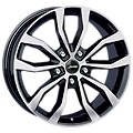Autec, Uteca, 8,5x19 ET46 5x120 65,1, schwarz poliert