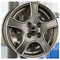 Borbet, F2, 5,5x14 ET35 4x100 57,1, graphite polished