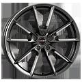 Borbet, LX, 8,5x20 ET30 5x112 66,5, graphite spoke rim polished