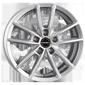 Borbet, W, 6,5x16 ET45 5x112 57,1, crystal silver