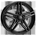 Rial, M10, 6,5x16 ET38 5x112 66,5, racing-schwarz