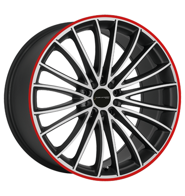 Corspeed Le Mans Mattblack polished Color Trim rot