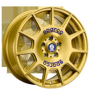 Sparco Terra gold blaue Beschriftung