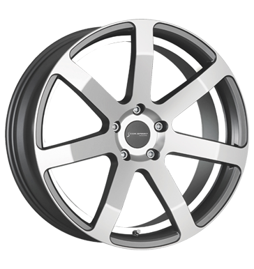 Corspeed Challenge highgloss gunmetal-Polished undercut Color Trim weiss