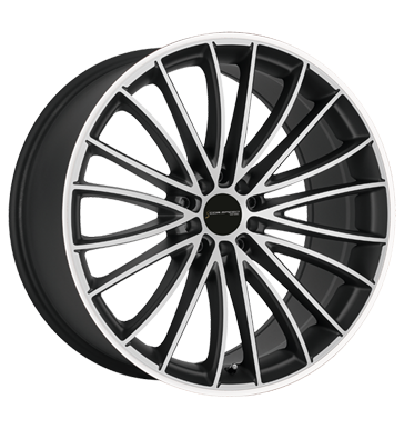 Corspeed Le Mans Mattblack polished Color Trim weiss